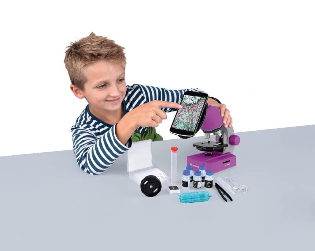 Bresser junior mikroskop 40x 640x lila kaufen bei spielgeschenke