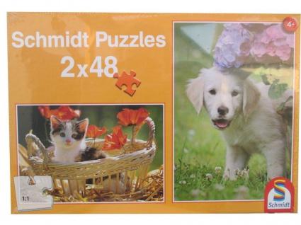 Schmidt Spiele Puzzle - Hund und Katze