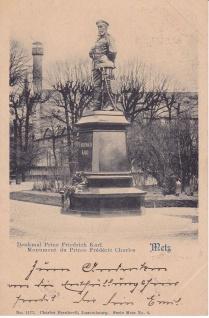 Ansichtskarte Metz Denkmal Prinz Friedrich Karl, ein altes Original