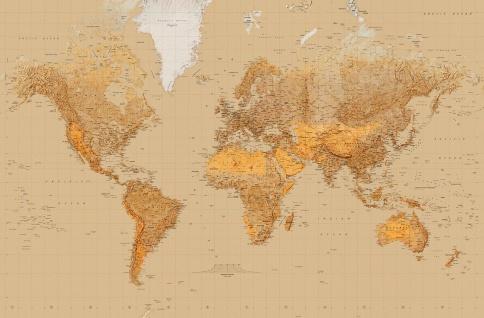 XXL Poster Weltkarte, mit Zeitzonen