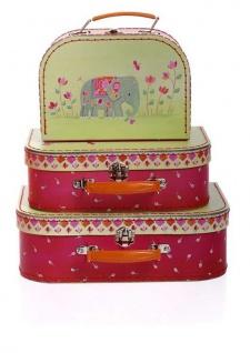 3-teiliges Puppenkofferset, Indien - Puppenzubehör