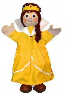 HANDPUPPE Königin gelb Grösse 40 cm