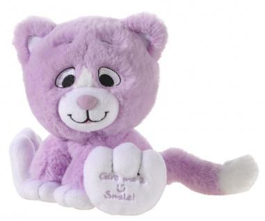 Plüschtier Katze Kitty Smile Farbe violett