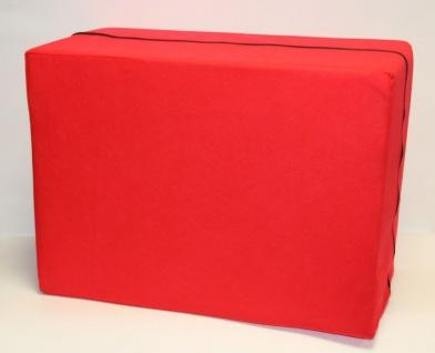 Bandscheibenwürfel, rot