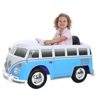 Kinderfahrzeug VW BUS T2, 12V, RC, blau