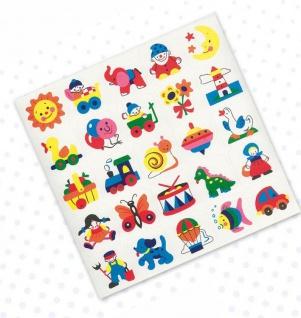 Erkennungsschilder, Sticker Dessin 1, 25 Stück