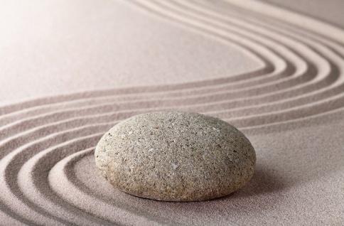 XXL Poster Wellness, Stein auf Sand