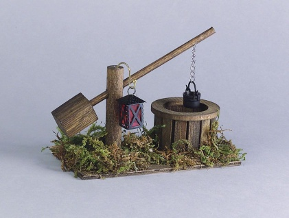 Ziehbrunnen für Puppenhaus, Hobby- und Modellbau
