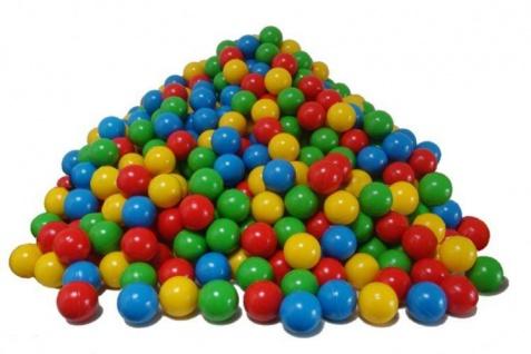 Sortiment Bälle, 750 Stück, 4 Farben
