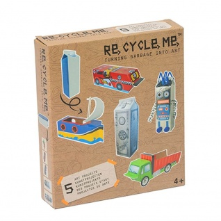 Re-Cycle-Me Basteln mit Milchkarton für Jungen - Bastelset Re-Cycle-Me