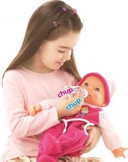 Funktionspuppe Hello Baby mit pinken Strampler
