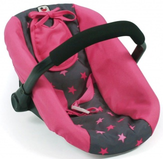 Puppen-Autositz, Sternchen pink