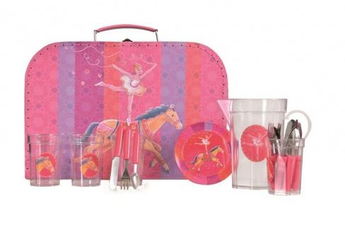 Koffer-Geschirr-Set, Motiv Zirkus - Puppengeschirr