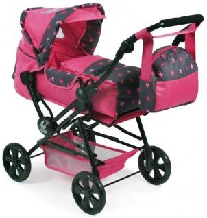Kombi-Puppenwagen ROAD STAR, Sternchen pink
