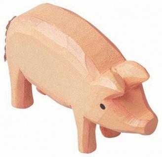 Bauernhoftiere 2 Schweine aus Holz - Vorschau