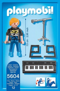 Playmobil 5604 City Life Keyboarder mit Mikrofon