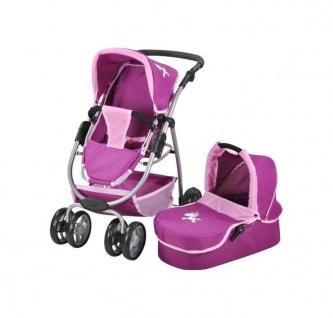 Kombi-Puppenwagen Coco - UMADas Einhorn, purple