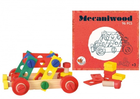 Mecaniwood Holzbaukasten, 96 Teile