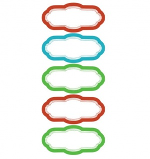 Wallies Dry Erase Colored Labels