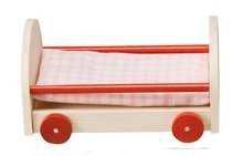Puppenhausmöbel Kinderzimmer Rustikal, Babybett