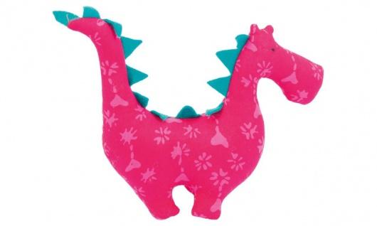 Stofftier Kuschelfreund Drache, klein, pink