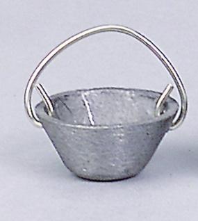 Kessel Zinn, für Krippen, Hobby- und Modellbau, 12 mm, mit Kette