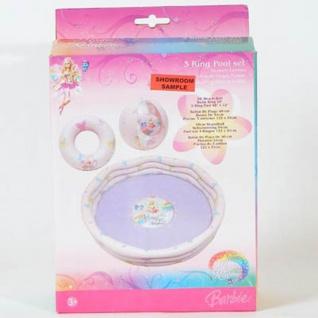Barbie Planschbecken Set 3-teilig, Becken, Ring und Ball
