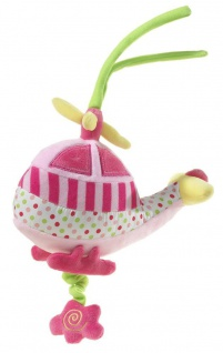Spieluhr Musik Helikopter, 18 cm Farbe pink