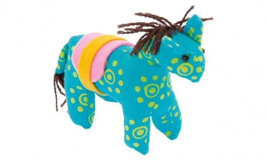 Stofftier Kuschelfreund Pferd, blau
