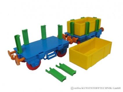 Kindereisenbahn Waggon bunt bunt