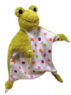 Schmusetuch Frosch - Schmusehandpuppe Frosch, Schnuffeltuch