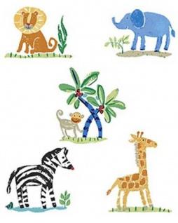 Wandaufkleber Wallies Motiv-Sticker (Cutouts) Jennys Safari