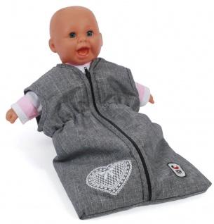 Puppen-Schlafsack, Jeans grey