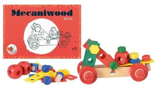 Mecaniwood Holzbaukasten, 48 Teile