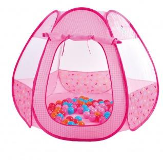 Bällebad mit 250 Bällen, pink
