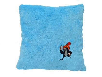 Kissen der kleine Maulwurf, hellblau - Kinderkissen