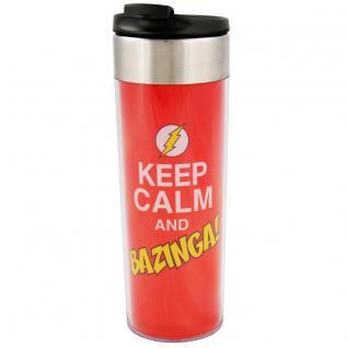 The Big Bang Theory Coffee To Go Becher Keep Calm and Bazinga, 400 ml