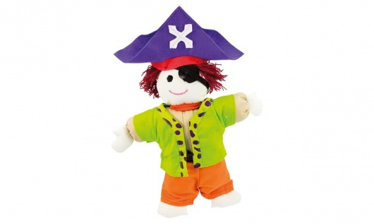 Stoffpuppe Kuschelfreund Pirat, klein