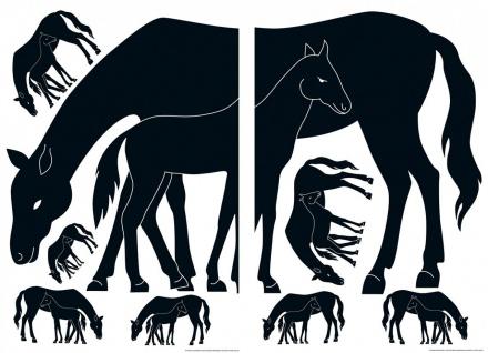 Wandtattoo Tiere Pferd, für Kinder, selbstklebend