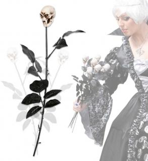 schwarze rose mit totenkopf - Rosa Krbislampe