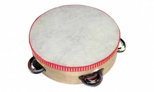 Tamburin mit 4 Schellen
