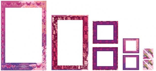 Sticker-Rahmen Hannah Montana 6 Rahmen
