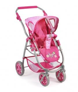 Kombipuppenwagen, 3 in 1 Emotion ALL IN Dessin Dots Pink