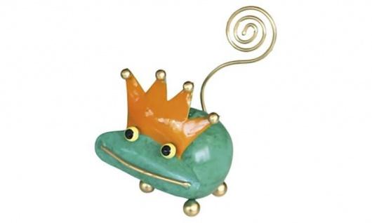 Metallfigur Froschkönig Fred