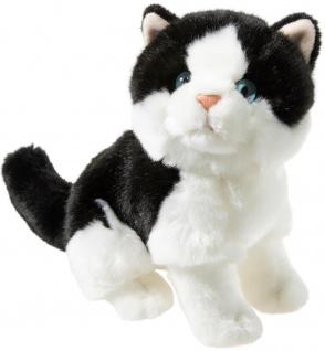 Heunec Plüschtier Misanimo Kätzchen weiß-schwarz, Kuscheltier