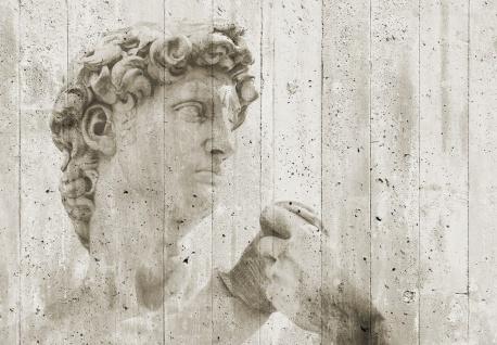 Vlies Fototapete Kunst, Steinwand mit Statue