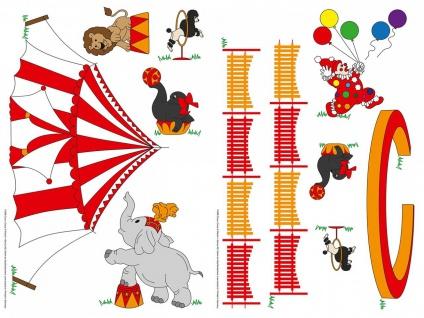 Wandtattoo Zirkus mit Tieren, für Kinderzimmer, selbstklebend