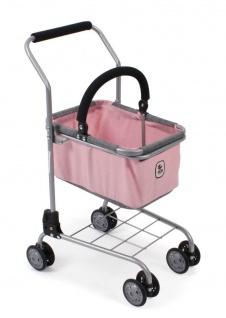 Supermarkt-Einkaufswagen für Kinder Melange grau-rosa
