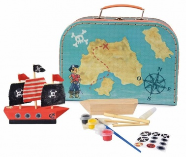 Piratenschiff zum Anmalen - Bastelset im Koffer