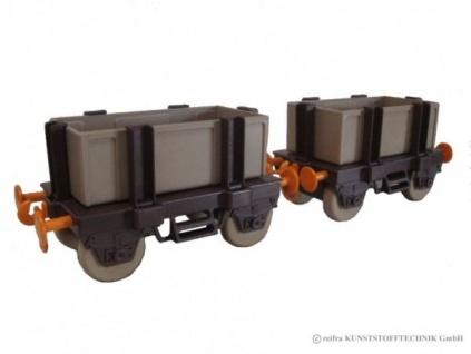 Kindereisenbahn Waggon Set 1 braun / beige / orange